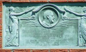 wh allen Close up of plaque