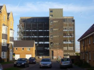 1957 office block on Old Ford End Road part demolished